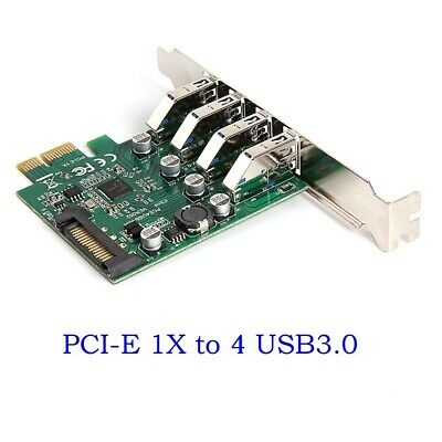 $13.99 • Buy PCI-E To USB3.0 HUB PCI Express Expansion Card Adapter With Low Profile Bracket