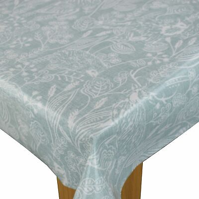 Clarke And Clarke Westleton Duckegg PVC WIPE CLEAN Oilcloth Tablecloth • 6.99£
