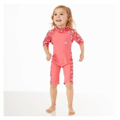 SplashAbout All In One Baby UV Splash All In One 3/4 Suit Pink Blossom 1 - 2 Yrs • 15.99£