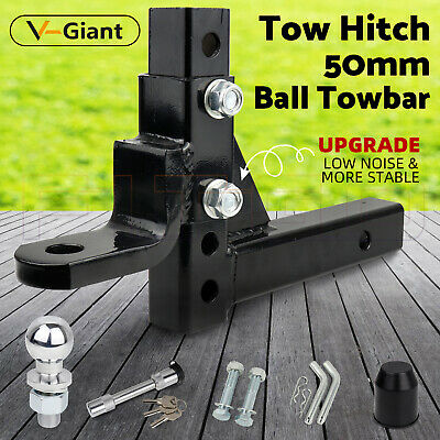 AU85 • Buy Adjustable 50mm Towbar Towing Ball Mount Tongue Hitch Trailer 4WD Car 3500KG OZ