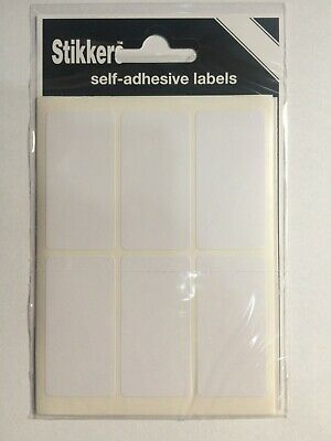 White Small Sticky Labels 25 X 50mm Price Stickers Tags Blank Self Adhesive • 1.69£