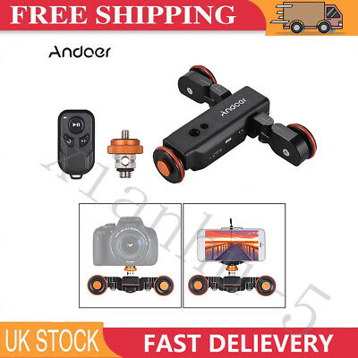 Motorized Camera Dolly With Electric Track Slider For Canon Nikon -Andoer L4 PRO • 55.99£