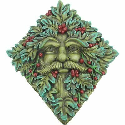 £14.99 • Buy GREEN MAN Of The Forest Wall Plaque BERRY BEARD TREE SPIRIT Wiccan Pagan