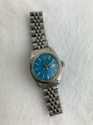 $ CDN2599 • Buy Rolex Datejust Oyster Perpetual Lady Vintage Blue Dial