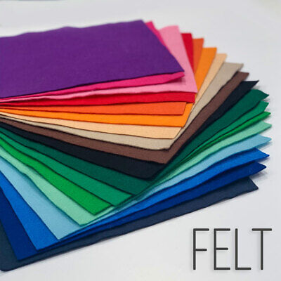 £2.59 • Buy Top Quality 30% Wool Blend Felt Over 30+ Colours 8 Size Options Free Postage
