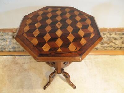 Table Outstanding Marquetry Specimen Wood Victorian C1840 • 495£
