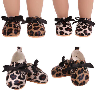 Cute Leopard Print Lace Up Shoes Suitable For 18-inch Doll Toy Accessories • 3.47£