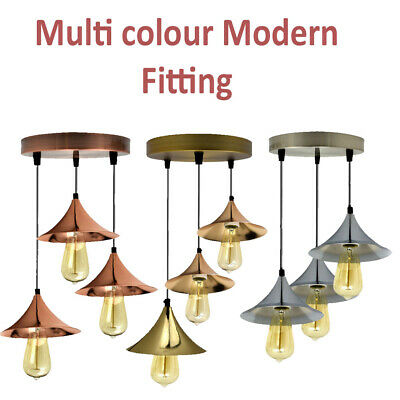 Modern 3 Way Ceiling Pendant Cluster Light Fitting Lights -3 Colour Of New Style • 39.99£