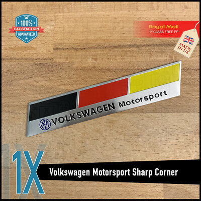 Volkswagen VW Sharp GERMANY TURBO SPORT Emblem Badge POLO GOLF JETTA TSI GTI TDI • 6.95£