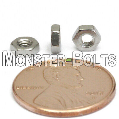 $5.46 • Buy M2.5 - 0.45  Metric Hex Nuts, A2 / 18-8 Stainless Steel DIN 934, Coarse Thread