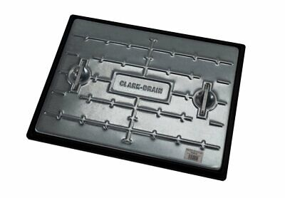 Manhole Cover & Frame 600x450 10 Tonne Galvanised Steel PC6CG Access Inspection • 22.85£