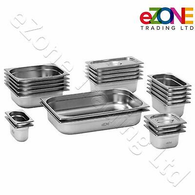£11.99 • Buy Gastronorm Pan Stainless Steel Gastro Container Tray Bain Marie Food Pot Lid