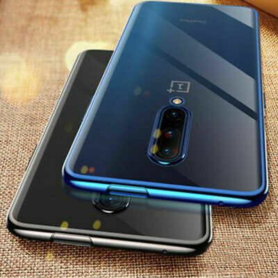 AU3.89 • Buy Plating Clear Case For One Plus 7T 7 Pro 6T 6 5T Electroplate Soft Rubber Cover