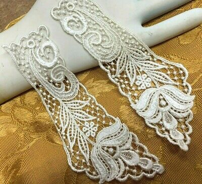 Vintage Lace Collar 7  Rayon Cotton Dyeable 1pair Made In USA #2004RC • 7.07£