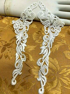 Vintage Lace Bridal Collar Rayon Cotton Dyeable 1pair Made In USA #2005RC • 6.36£