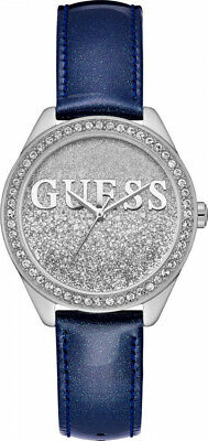 $ CDN114.17 • Buy New Guess 36mm Women's Watch GLITTER GIRL Blue Patent Leather Strap W0823L13