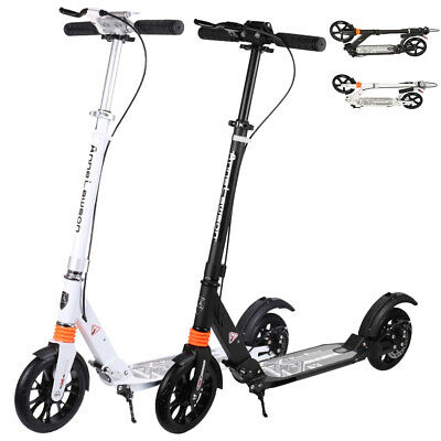 AU95.12 • Buy ❤️Push Folding Scooter Hand Brake Disc Dual Big Wheels Commuter Adults Child