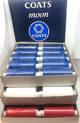 Moon 120's Sewing/overlock Thread By Coats 10 X1000y Cops All Colours Available • 5.25£