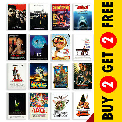 Classic Cult Film Posters, Movie Posters A3 A4 Size Nostalgic Home Cinema Decor • 3.49£