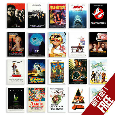 $ CDN13.86 • Buy Classic Cult Film Posters, Movie Posters A3 A4 Size Nostalgic Home Cinema Decor