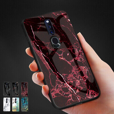 AU17.99 • Buy For Oppo Reno 2Z A9 R17 F5 F11Pro A7X R11s Plus Marble Tempered Glass Case Cover