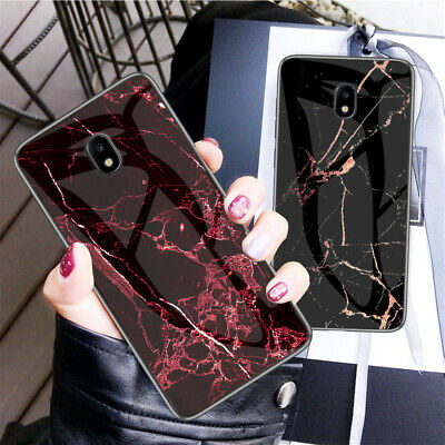 AU16.55 • Buy For Samsung Galaxy J7 J5 J3 J2 Pro 2017 Marble Pattern Tempered Glass Case Cover