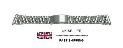 $ CDN25.04 • Buy Silver Tone President Bracelet With Spring End Fitting 18mm 20mm 22mm