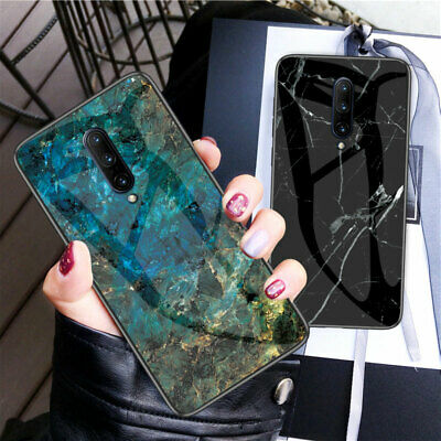 AU16.55 • Buy For One Plus 7T Pro 7 6T 6 5T 5 Marble Patterned Tempered Glass Back Case Cover