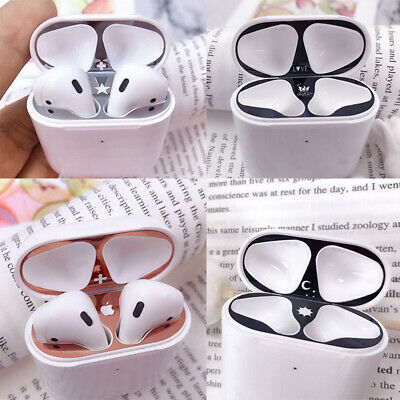 $ CDN4.67 • Buy For Apple AirPods 2nd 1st Case Metal Dust Guard Protective Cover Skin Stickers