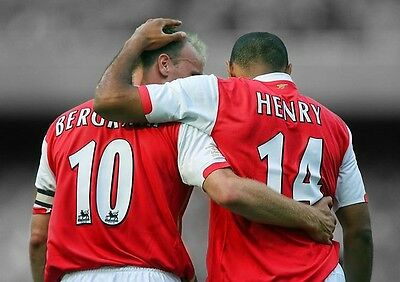 £8.99 • Buy Thierry Henry & Dennis Bergkamp Arsenal Poster Print Photo Picture A3 A4