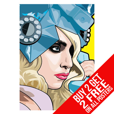 Lady Gaga Pop Art Poster Art Print A4 A3 Size - Buy 2 Get Any 2 Free • 6.99£