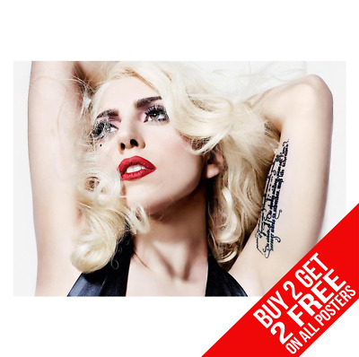 Lady Gaga Poster Art Print A4 A3 Size - Buy 2 Get Any 2 Free • 8.99£