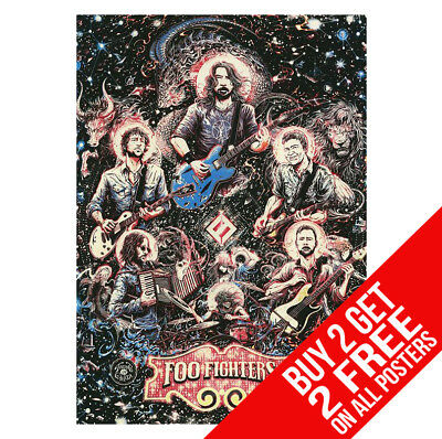 Foo Fighter Dave Grohl Live Poster Art Print A4 A3 Size - Buy 2 Get Any 2 Free • 8.99£