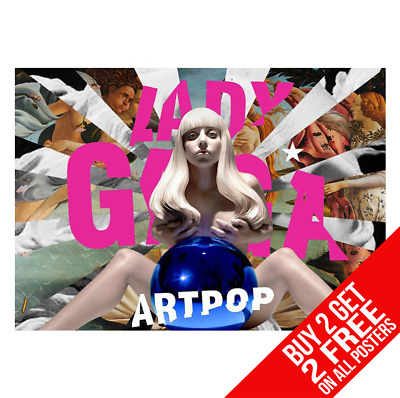 Lady Gaga Artpop Poster Art Print A4 A3 Size - Buy 2 Get Any 2 Free • 8.99£