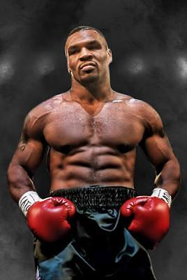 MIKE TYSON POSTER Boxing Gym Gloves Photo Print Picture Poster Wall Art A3 A4  • 8.99£