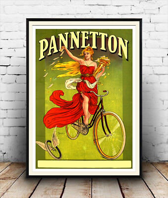 Pannetton : Vintage Cycling Poster Reproduction , Poster, Wall Art. • 3.99£