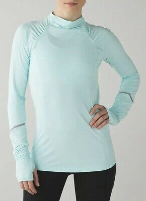$ CDN60 • Buy LULULEMON ATHLETICA Aquamarine WARM IT UP LONG SLEEVE TOP Size 4-6 SMALL