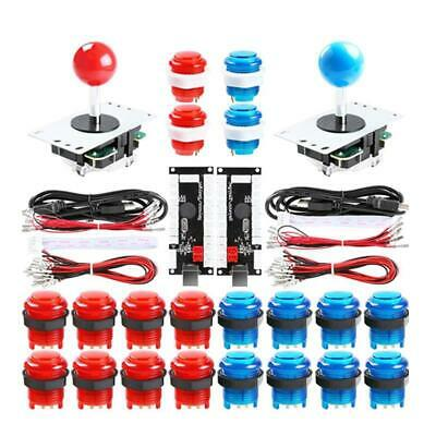 £29.99 • Buy LED Arcade Buttons And Joystick Kit To DIY Arcade Machine PC & Raspberry Pi Game