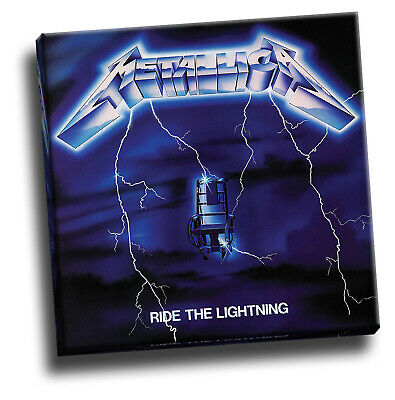 Metallica Ride The Lightning Giclee Canvas Album Cover Picture Art • 18.60£