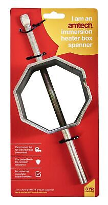 Box Immersion Heater Spanner Zinc Plated Garden Steel Hot Water Tommy Bar New • 7.19£