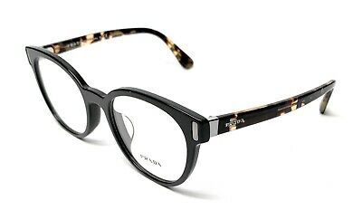 2f243d9e4cb0 New Prada Vpr 06t-f 1ab-1o1 Black Women's Authentic Eyeglasses Frame 52-