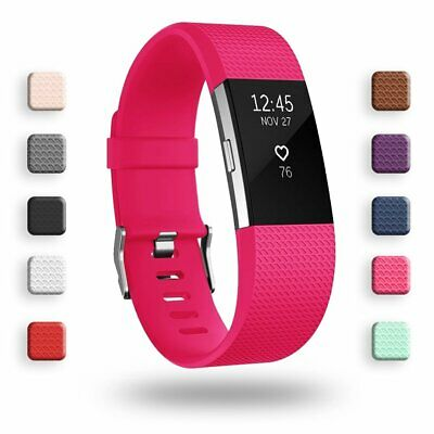 AU16.73 • Buy Fitbit Charge 2 Band Small Large Strap Clasp Replacement Adjustable Breathable