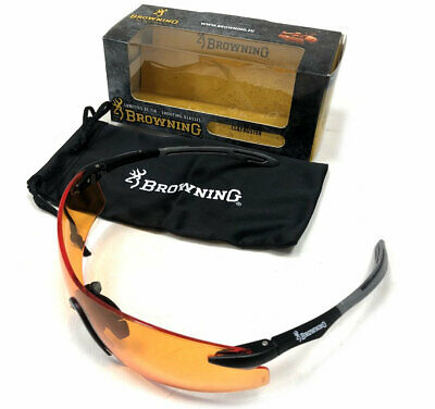 Browning Claybuster Orange Clay Pigeon Shooting Glasses • 18.25£