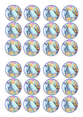 £3.90 • Buy 24 Turtles No 2 Birthday  Cupcake Toppers Iced Icing Fairy Cake Bun Toppers