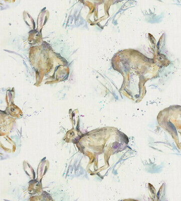 Hurtling Hares 100% Cotton Fabric Voyage Curtains Cushions Crafts • 19.99£