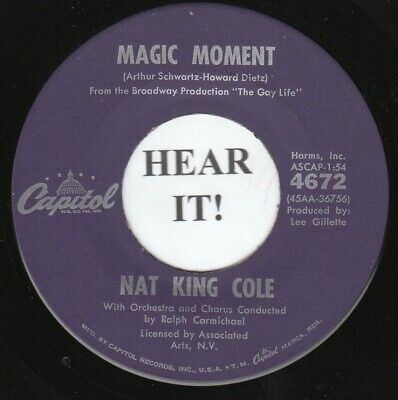£1.39 • Buy NAT KING COLE 45 (Capitol 4672) Magic Moment/Step Right Up (And Say You Love Me)