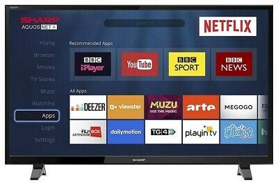 """View Details Sharp 40"""" LED Smart TV Full HD 1080p With Freeview Play HD + Netflix & PVR • 229.99£"""