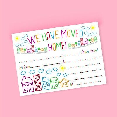Change Of Address Cards // New Home Cards - 'We Have Moved Home' - 1 Pack Of 8 • 3.25£