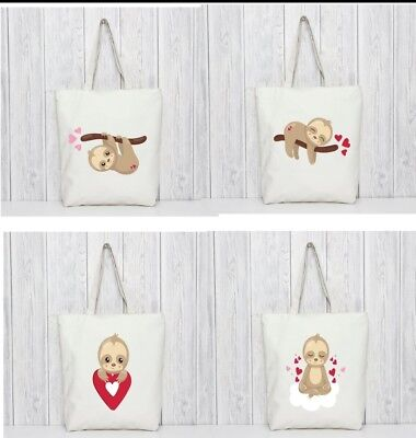 Sloth Bags. Gift Romantic Tote Gift For Her I Love You Gift Birthday Christmas  • 5£