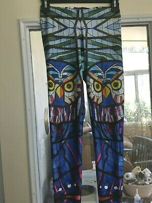 9a2ace287ab8a0 Black Milk Owl Stained Glass Leggings Size S • 15.00$